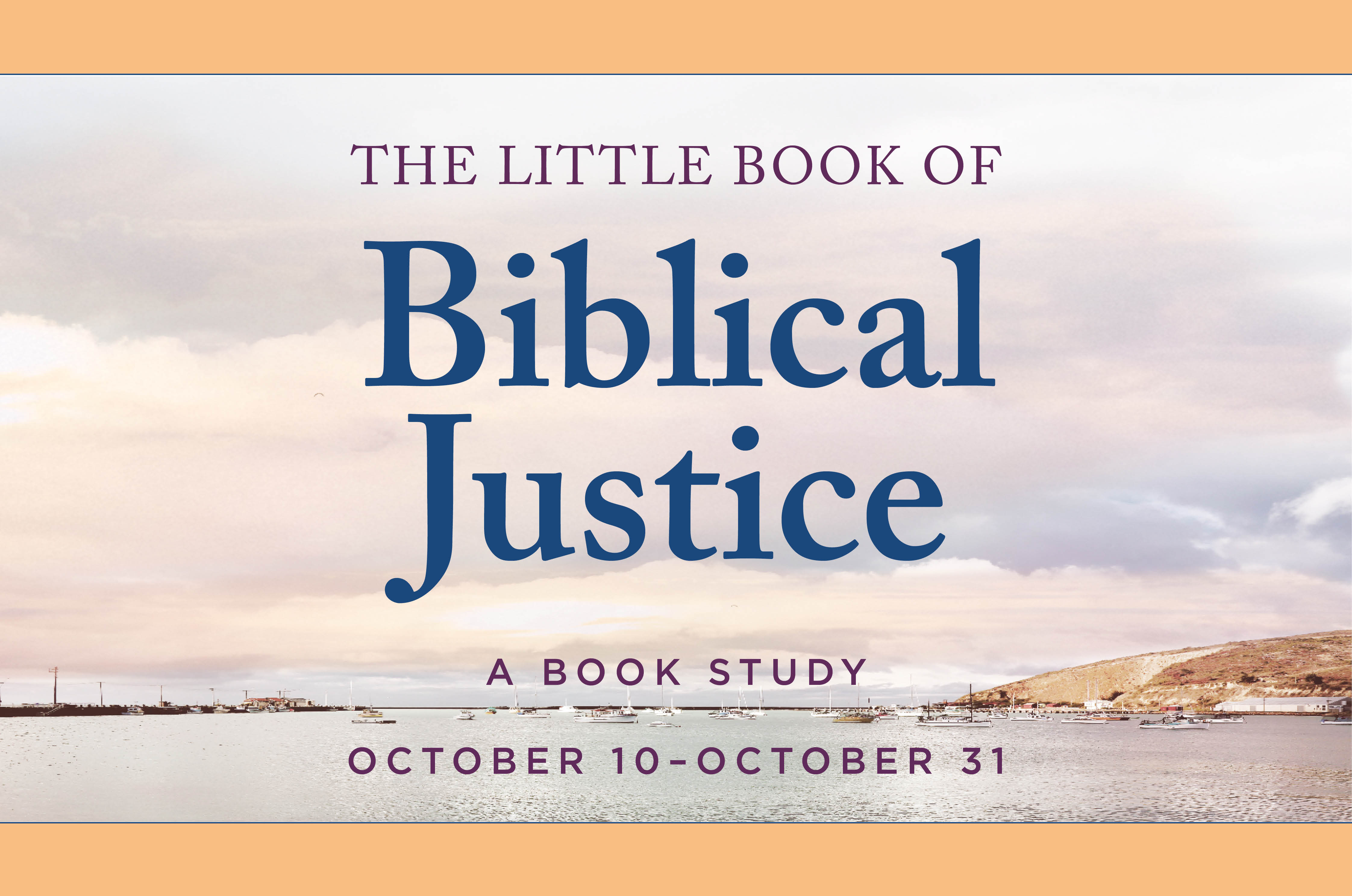 The Little Book of Biblical Justice (October class)